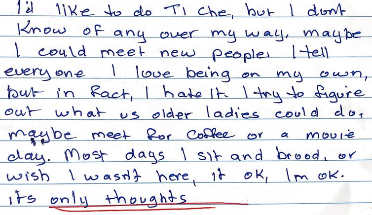 A diary entry from June, during the study.